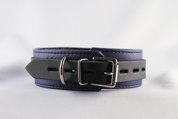 Aslan Leather Purple Jaguar Leather Collar -  Collars - Spot of Delight - 3