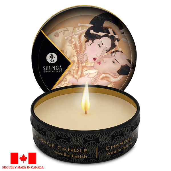 Shunga Mini Massage Candle - Desire (Vanilla Fetish) Massage - Spot of Delight - 6