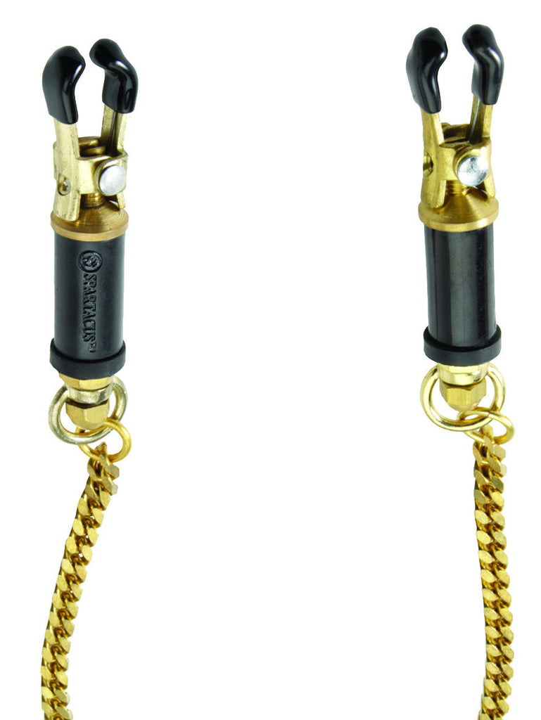 Spartacus Brass Barrel Adjustable Nipple Clamps -  Clamps - Spot of Delight - 1