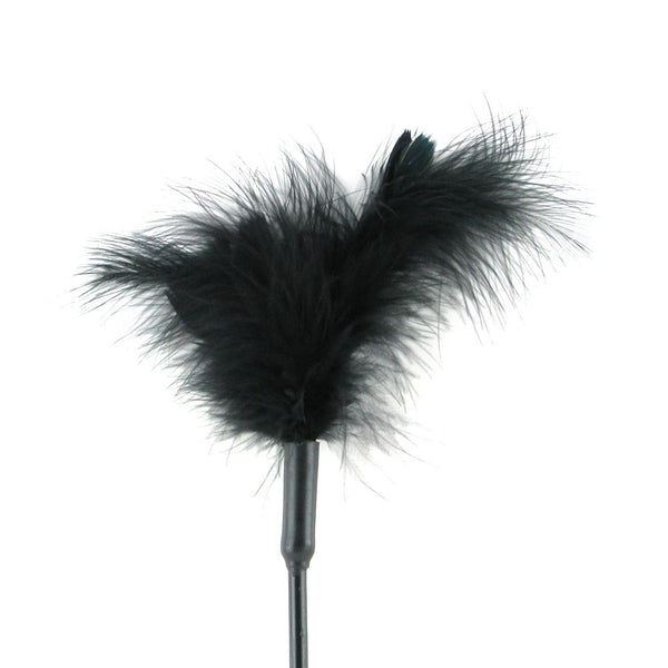 Sportsheets Mini Feather Tickler - Black Feather Ticklers - Spot of Delight - 5