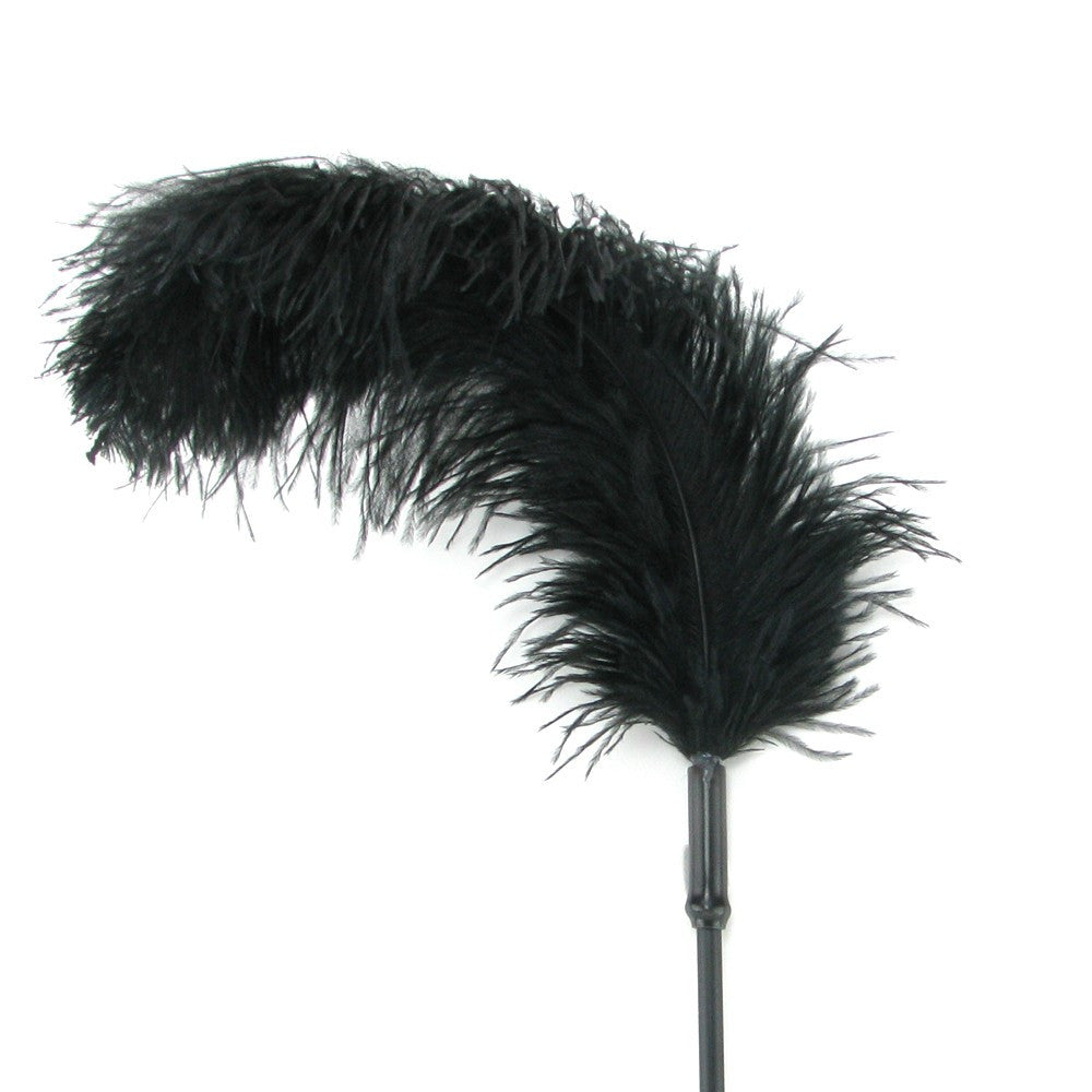 Sportsheets Ostrich Feather Tickler - Black Feather Ticklers - Spot of Delight - 3