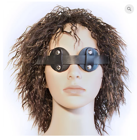 """No Peek"" Leather Eye Mask"