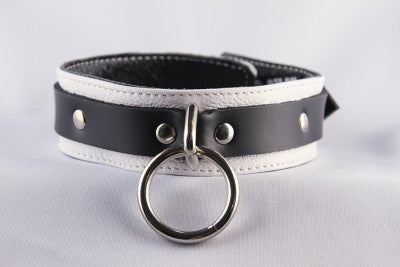 Aslan Leather Jaguar Collar White -  Collars - Spot of Delight - 1