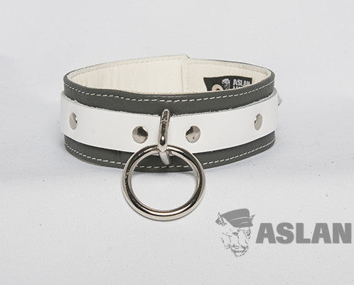 Aslan Leather Grey Jaguar Leather Collar -  Collars - Spot of Delight