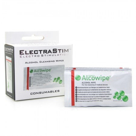 ElectraStim Alcohol Cleansing Wipes -  Estim Accessories - Spot of Delight