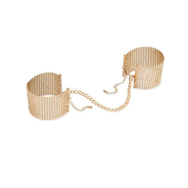 Bijoux Indiscrets Desir Metallique Handcuffs - Gold Jewellery - Spot of Delight - 1
