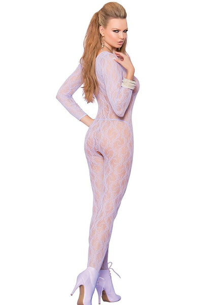 Periwinkle Floral Lace Bodystocking