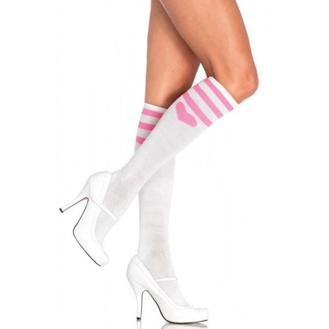 Leg Avenue Sweetheart Athletic Knee Socks -  Socks - Spot of Delight