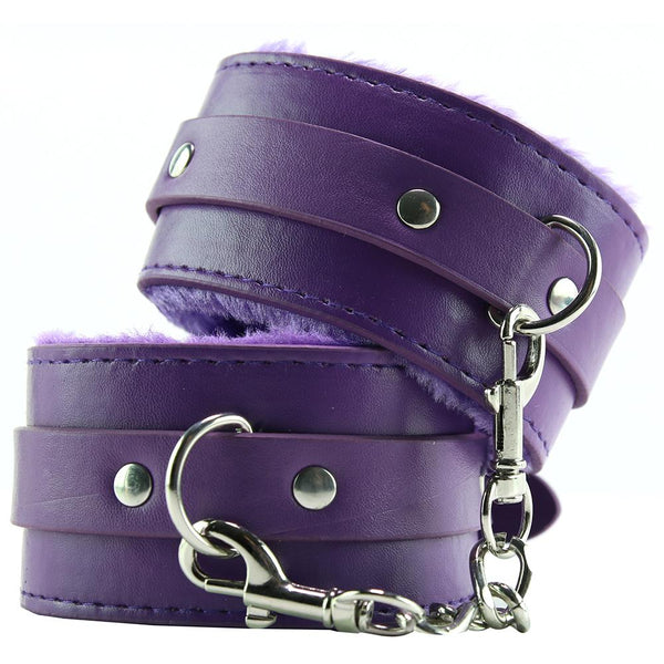 Premium Plush Purple Wrist Cuffs