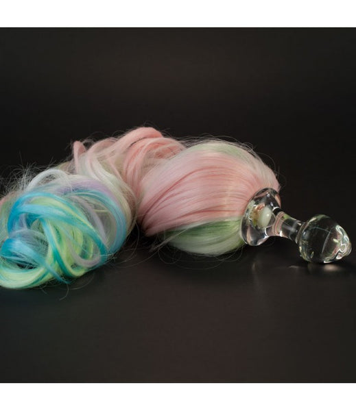 Crystal Delights Crystal Minx Detachable Faux Pony Tail Plug - Pastel 5-Color -  Tail Plugs - Spot of Delight - 2