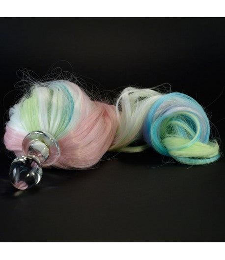 Crystal Delights Crystal Minx Detachable Faux Pony Tail Plug - Pastel 5-Color -  Tail Plugs - Spot of Delight - 1