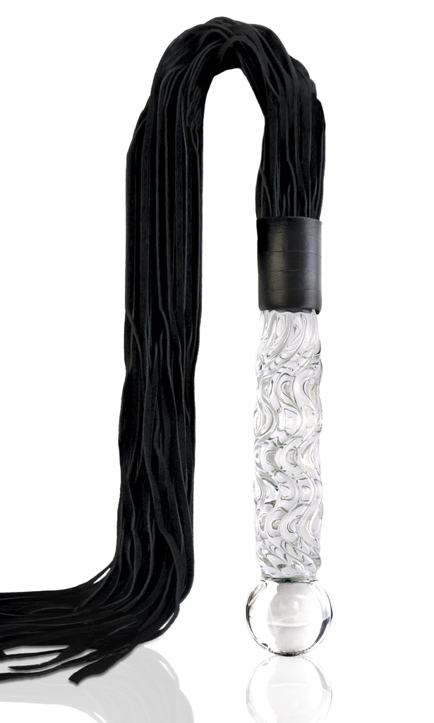 Pipedream Icicles No. 38 Hand Blown Glass Whip -  Floggers - Spot of Delight - 1