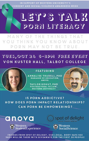 Porn Literacy Talk - Oct 24 @Von Kuster Hall, UWO