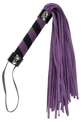 "Punishment Purple Suede 18"" Flogger -  Floggers - Spot of Delight"