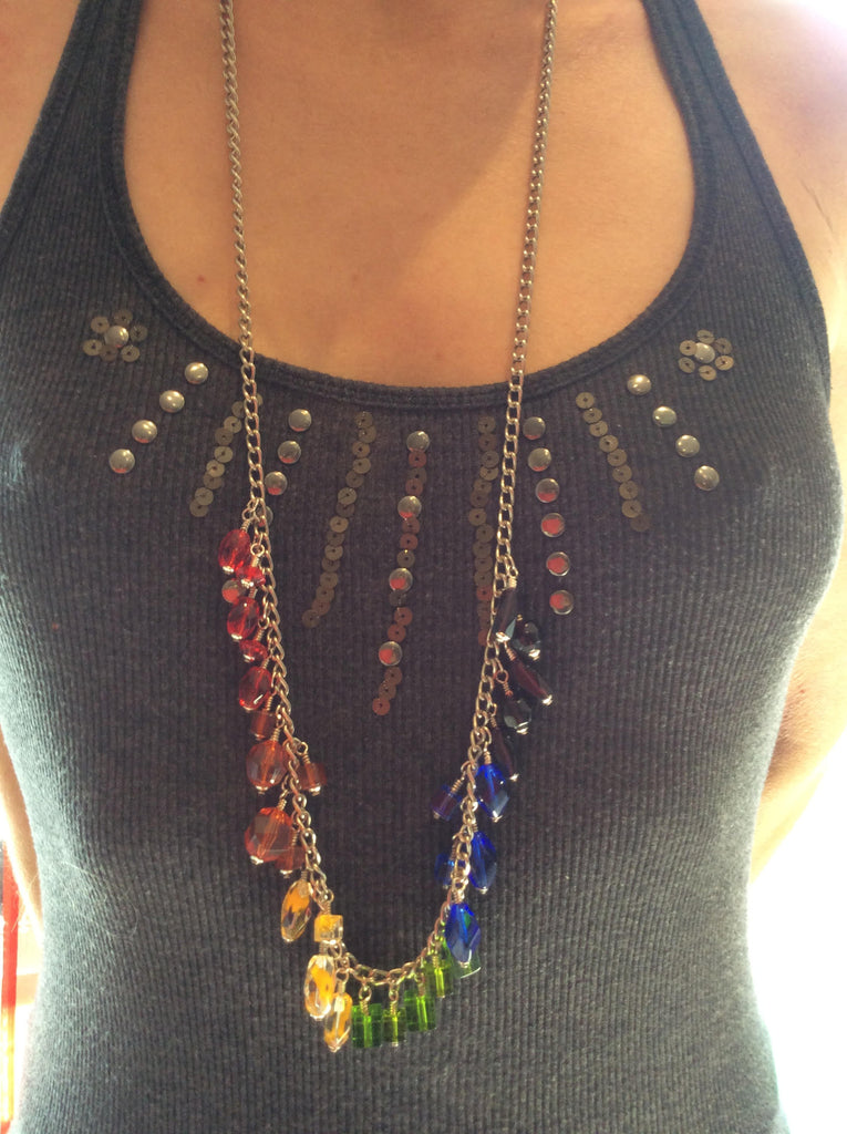 MicroEnterprise Rainbow 35 Inch Necklace -  Jewellery - Spot of Delight