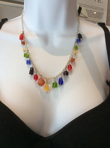 MicroEnterprise Rainbow 19 Inch Necklace B-088 -  Jewellery - Spot of Delight