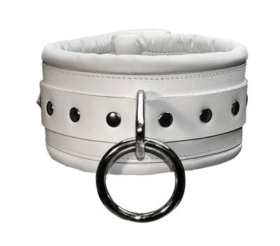 Aslan Leather Luxe White Collar -  Collars - Spot of Delight