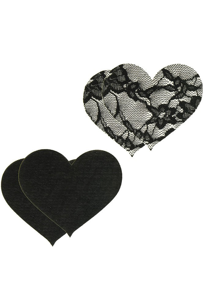 Satin and Lace Heart Pasties
