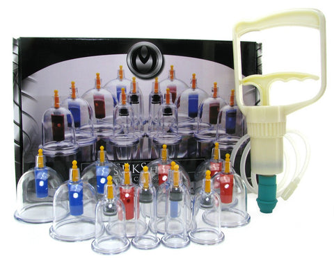 XR Brands Master Series SukShen 12 Piece Cupping System -  Pumps - Spot of Delight - 1