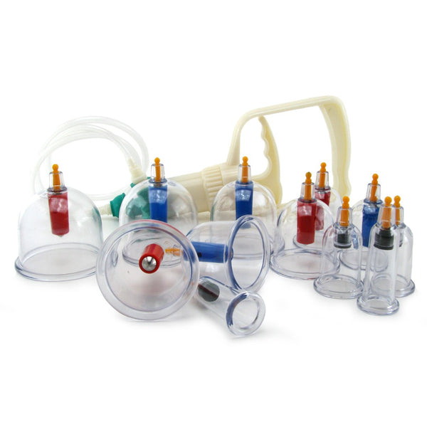 XR Brands Master Series SukShen 12 Piece Cupping System -  Pumps - Spot of Delight - 4