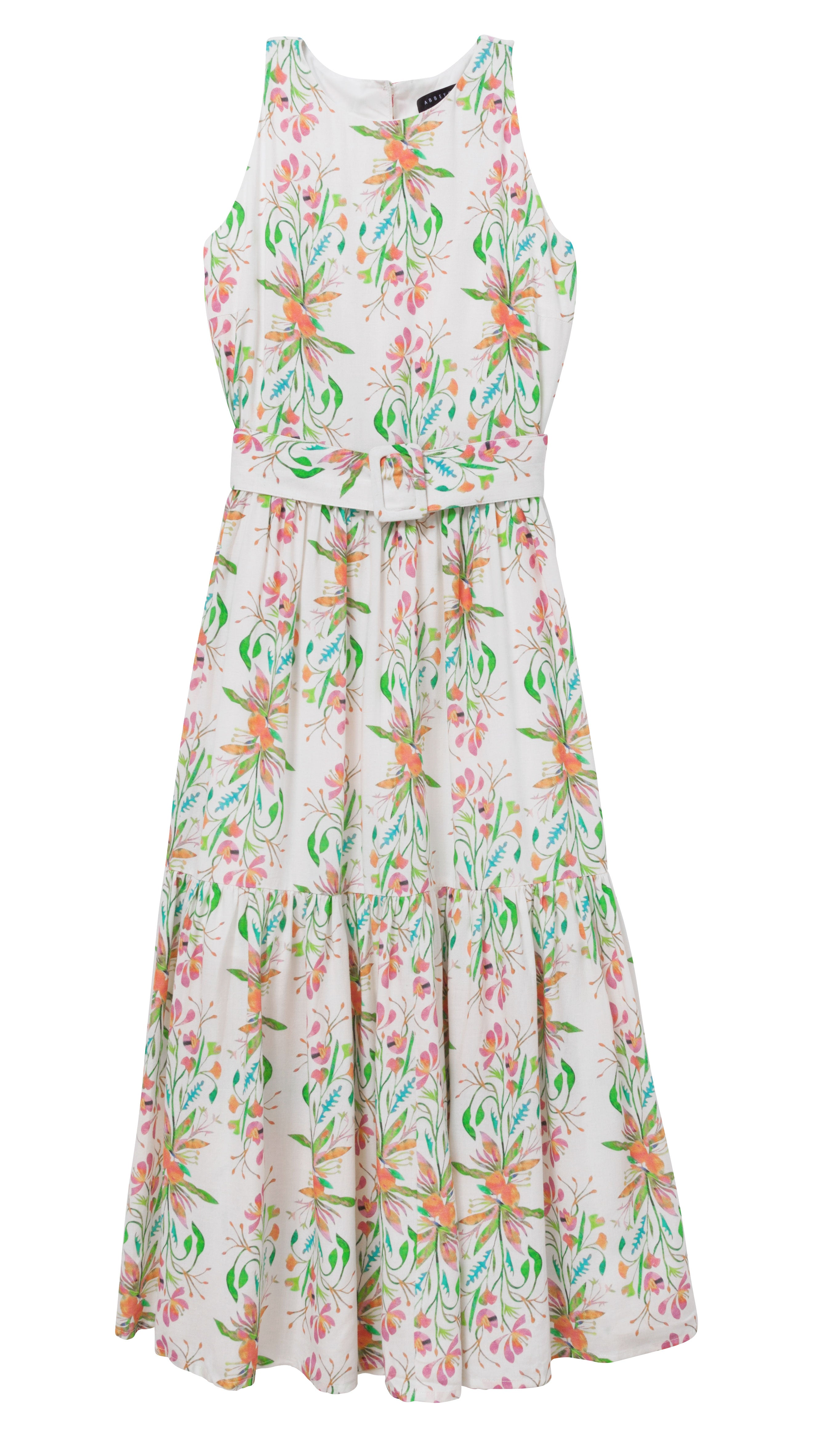 MAYA TIERED DRESS TROPICAL FLORAL