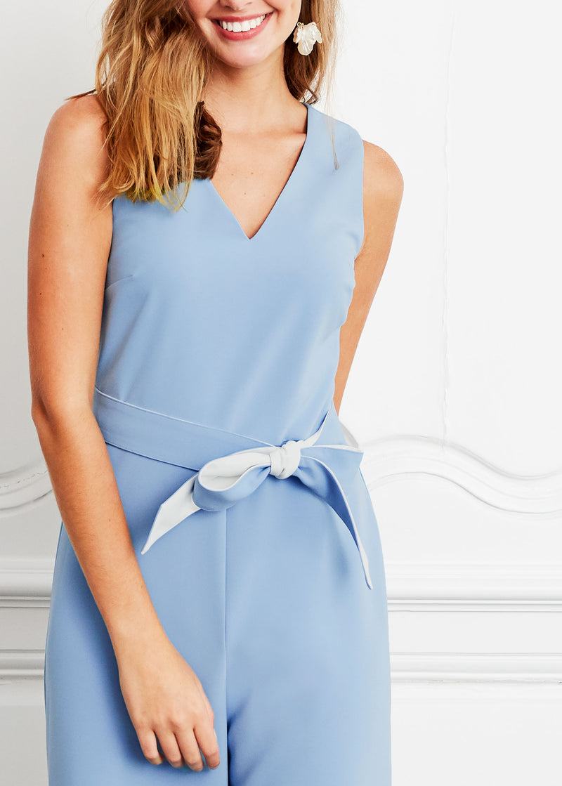 BRIE WIDE-LEG JUMPSUIT BLUE