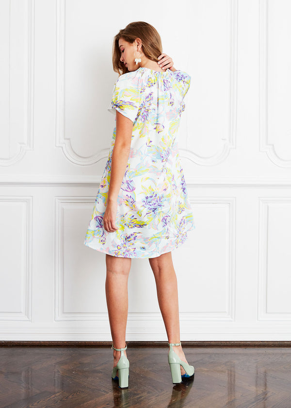 HELEN DRESS - BRUSHED FLORAL COTTON