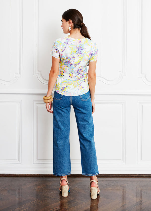 CARDIN TOP - BRUSHED FLORAL