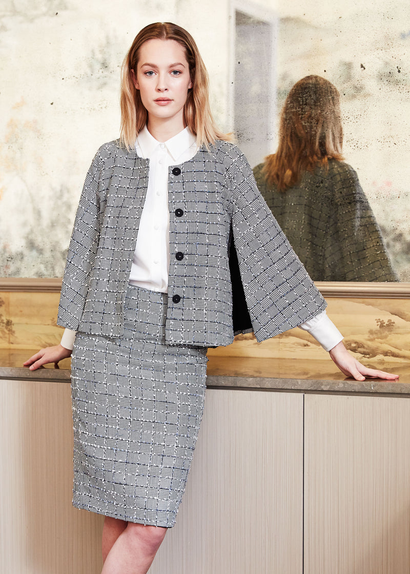 SAM CAPE - PATCHWORK TWEED