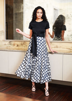 BEVERLY SKIRT - SILVER DOT