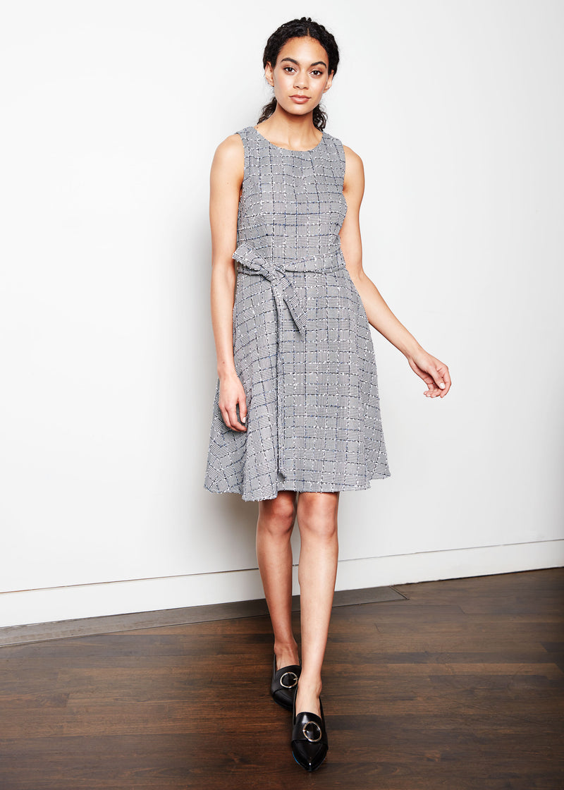 ALISON DRESS -  PATCHWORK TWEED