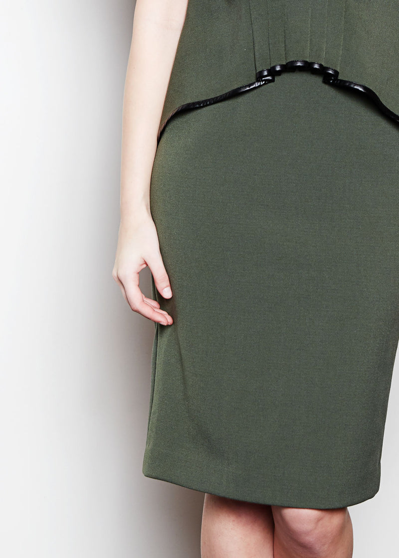 BRITT SKIRT - ARMY  STRETCH SUITING