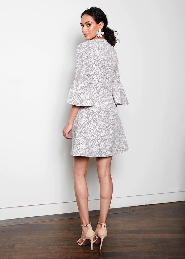 WREN DRESS - PEBBLE JACQUARD