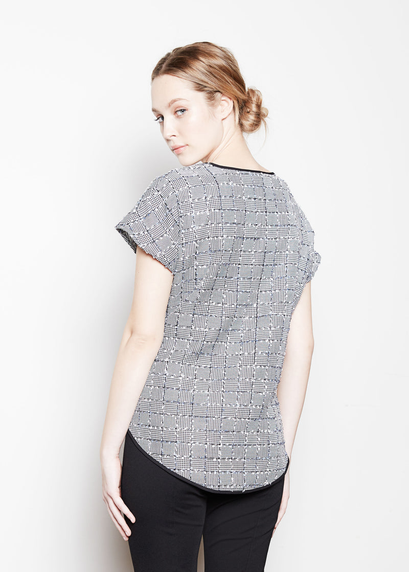 JANE SWEATSHIRT - PATCHWORK TWEED