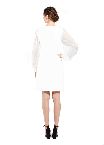 BELLA DRESS - WINTER WHITE