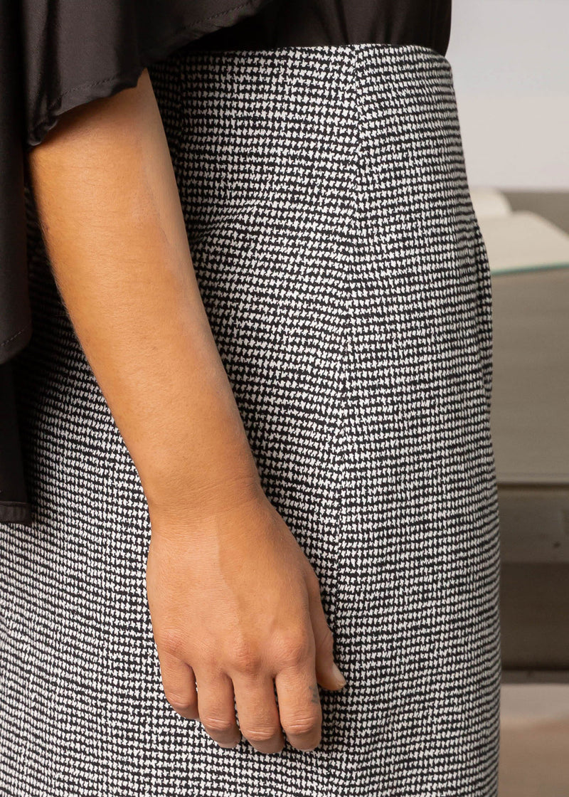 BRITT PENCIL SKIRT HOUNDSTOOTH