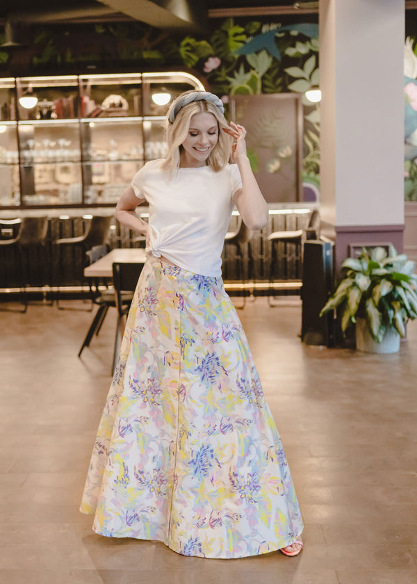 EDEN SKIRT - BRUSHED FLORAL