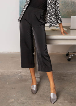 GRACE WIDE-LEG CULOTTES BLACK