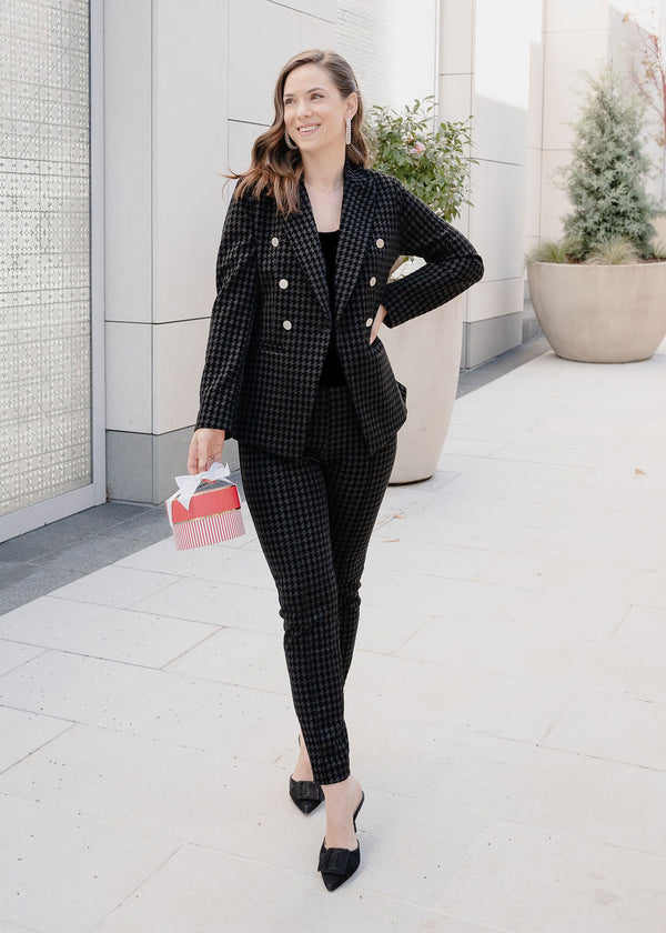 CALVIN DOUBLE-BREASTED BLAZER HOUNDSTOOTH