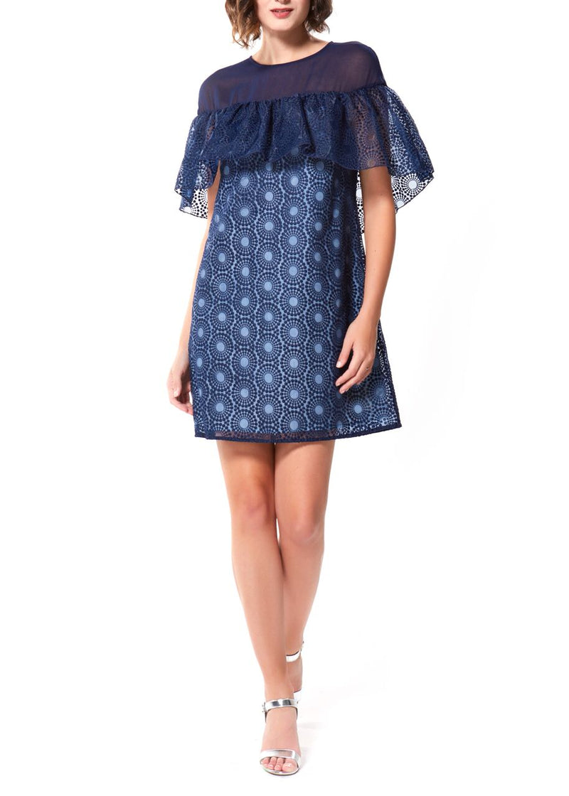 CORRINE DRESS- NAVY
