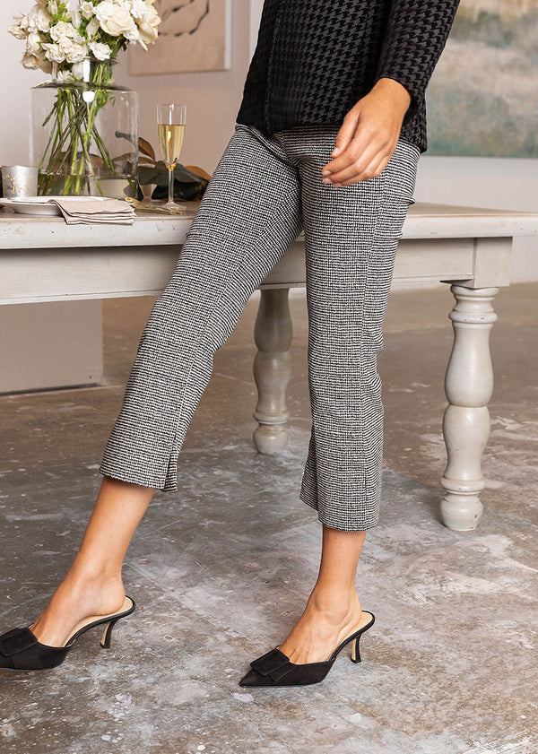 DYLAN FLARED PANT HOUNDSTOOTH