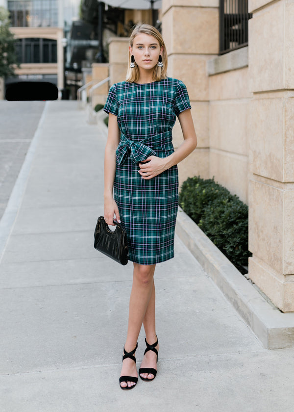 BRITT SKIRT - IVY PLAID