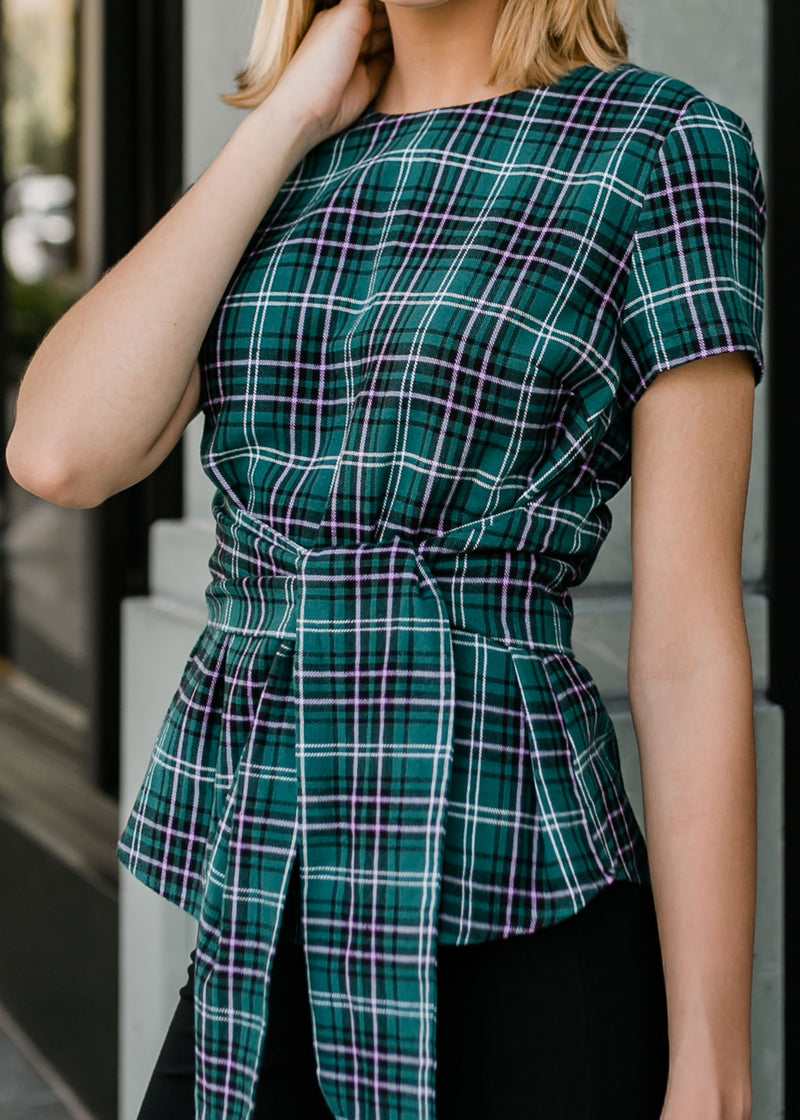 CARDIN TOP - IVY PLAID
