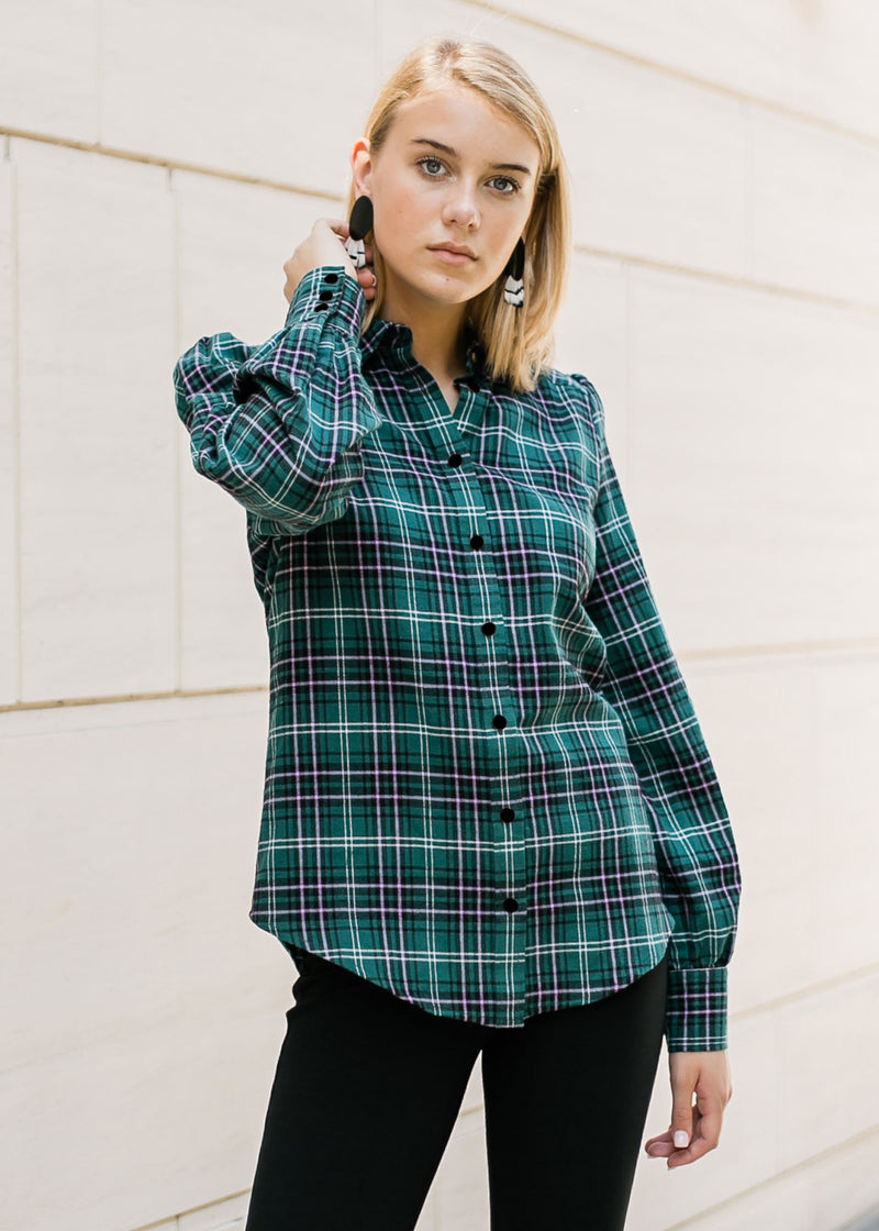 ELLEN BLOUSE - IVY PLAID