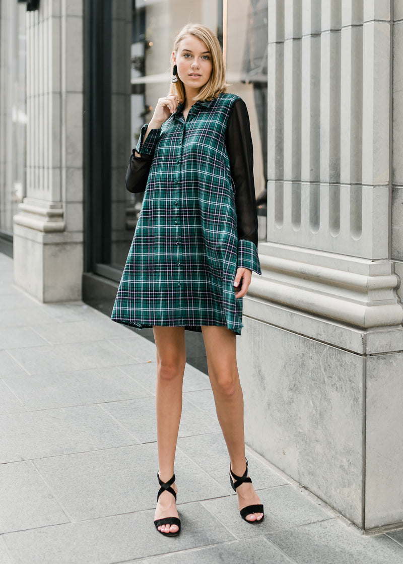 MEGHAN DRESS - IVY PLAID
