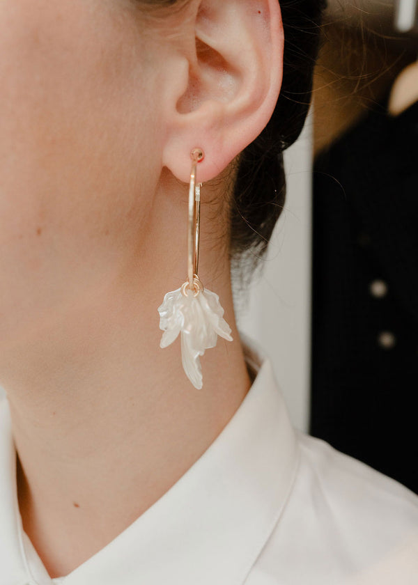 Petal Dangle Hoops