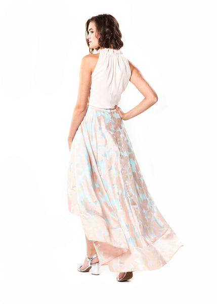 RANA SKIRT- ROSE/LIGHT BLUE