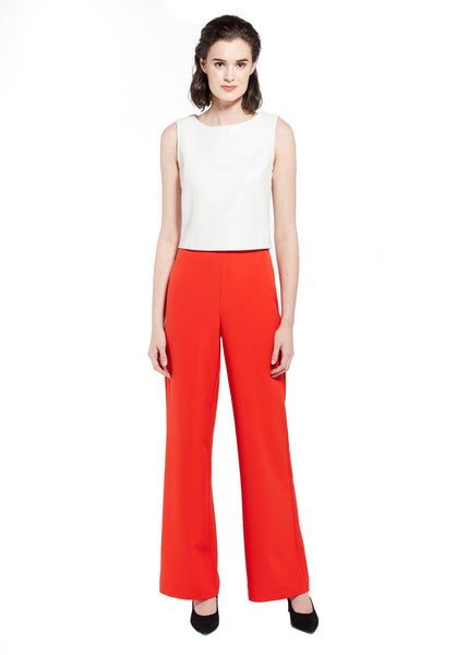 CARTER TROUSER - POINSETTIA