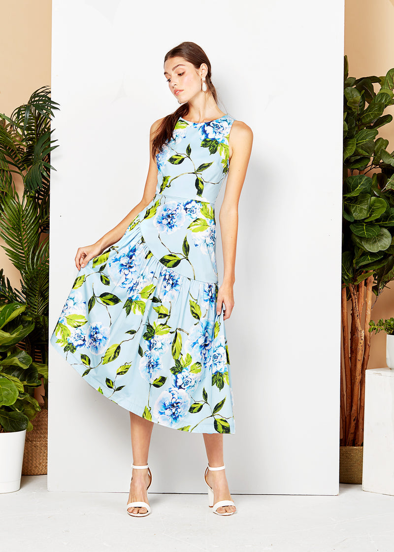 CHLOE DRESS - BLUE FLORAL