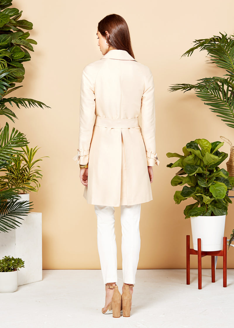 JULIE TRENCH COAT - CHAMPAGNE
